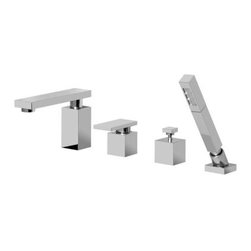 Graff - Graff - Solar Roman Tub Set With Handshower - G-3751-LM31-PC - Solar Collection