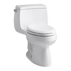 KOHLER - KOHLER K-3615-0 Gabrielle Comfort Height One-Piece Elongated 1.28 GPF Toilet - KOHLER K-3615-0 Gabrielle Comfort Height One-Piece Elongated 1.28 GPF Toilet with Class Five flush system and left-hand trip lever in White