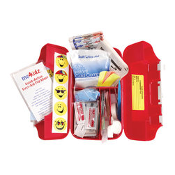 me4kidz - MediBag First Aid Kit - Empower your family to take a pro-active health stance with this child friendly first aid kit. This compact kit carries everything you need to respond to the bumps and scrapes of childhood, and will take the sting out of sterile supplies with its cheerful design.