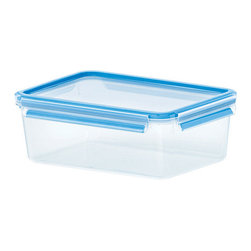 Emsa 3D Clip & Close 78 oz. Container - 3D Perfect Clean - a revolution in food storage containers.  The new Emsa 3D Clip & Close and Snap & Close food storage containers feature the 3D Perfect Clean sealing system making them 100% sanitary  100% leak proof  and 100% air tight.  The containers are manufactured in Germany out of the highest quality BPA free raw materials in a facility that is routinely audited and inspected by a 3rd party to ensure quality.  With the patented seal technology  there are no gaskets to separate from the lids - they are permanently bonded to the lids to ensure a lifetime of use without leaking.  We are so confident that you will love our new 3D Perfect Clean food storage containers that we cover them with a 30 year warranty - even on the clips and lids!Product Features                        Capacity - 2.3 L / 78 fl. oz.            Fresh & Healthy - 100% sanitary  100% leak proof  100% aroma tight.            100% Food Safe - Manufactured using only the highest quality BPA free raw materials.            Safe For Baby Food.            Freezer  Microwave  & Dishwasher Safe.            Includes measurements for liters  fluid ounces  and cups.            Interchangable Lids - 3D containers use either Clip Lids or Snap Lids.            Gasket is permanantly bonded to lid - containers will never separate or leak.            30 year warranty.