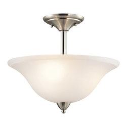 Kichler Lighting - Kichler Lighting 42879NI Nicholson Transitional Semi Flush Mount Ceiling Light - Kichler Lighting 42879NI Nicholson Transitional Semi Flush Mount Ceiling Light