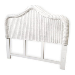 Wicker Paradise - Wicker Queen Headboard - Elana - The Elana Queen wicker headboard is framed on wood and made to last. Hardware not included, headboard is pre-drilled.