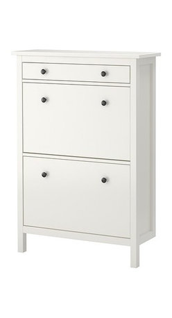 K Hagberg/M Hagberg - HEMNES Shoe cabinet with 2 compartments - Shoe cabinet with 2 compartments, white