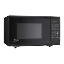Danby - 1100W Microwave, Black - The Danby DMW111KBLDB 1.1 Cu. Ft. 1000W Countertop Microwave Oven, in black, is not only practical and economical, it is stylish too. The DMW111KBLDB is a microwave that is fast and dependable. With plenty of presets, most cooking will be as simple as selecting the right setting and waiting a few moments for your food to be done. This microwave oven is built with the most common food presets, so, it is easy to understand why it is one of the most popular microwaves available. Plus it is well suited for the dorm room, office, cottage or kitchen.Spacious 1.1 cu. ft. (31 L) capacity microwave oven|10 power levels|Easy to read LED timer/clock|1000 watts of cooking power|Simple one touch cooking for 6 popular uses (popcorn, potato, pizza, beverage, dinner plate, frozen vegetable)|Automatic oven light|Removable 12.5-inch glass turntable|Color: Black|  danby| dmw111kbldb| dmw111| 1cf| 1.0| 1.1| cu.| ft.| cu| ft| 1000w| 1000-watt| 1000| watt| watts| microwave| oven| countertop| counter-top| counter| t  Package Contents: microwave oven|turntable|roller ring|manual|warranty  This item cannot be shipped to APO/FPO addresses