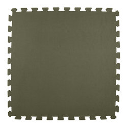 Greatmats - Greatmats Foam Floor Tile, 10 Pack, Gray - This is a 10 pack of tiles. Free Shipping. Each tile is 2x2 ft in size and covers 4 SF, this 10 pack of foam tiles will cover 40 SF. 2 Border strips included per tile. Ships ground to your door.