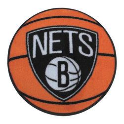 Fanmats - NBA Brooklyn Nets Rug Basketball Shaped Mat - FEATURES: