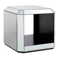 Standard Furniture - Standard Furniture Mirage Mirrored Rectangular End Table - Modern and glamorous, Mirage Tables have a contemporary sophistication that reflects today's modern lifestyle.