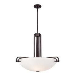 Metropolitan - Metropolitan N6624-590 Industrial 3 Light Industrial Bronze Bowl Pendant - Features:
