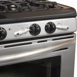 KidCo - KidCo Stove Knob Stops - Stop burns before they ever happen with the KidCo Stove Knob Stop, an easy to install adhesive applied device that slides behind the knob of your stove or oven and keeps it from activating. Adults can easily slide the stop out of the way when they are using the stove and slide it back into place once dinner is done. This item also works well for elderly family members who suffer from dementia. 5 standard gray stops are included per package.