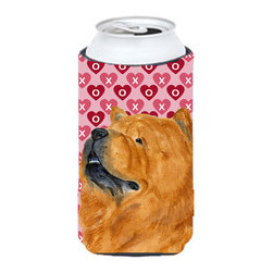 Caroline's Treasures - Chow Chow Hearts Love and Valentine's Day Portrait Tall Boy Koozie Hugger - Chow Chow Hearts Love and Valentine's Day Portrait Tall Boy Koozie Hugger Fits 22 oz. to 24 oz. cans or pint bottles. Great collapsible koozie for Energy Drinks or large Iced Tea beverages. Great to keep track of your beverage and add a bit of flair to a gathering. Match with one of the insulated coolers or coasters for a nice gift pack. Wash the hugger in your dishwasher or clothes washer. Design will not come off.