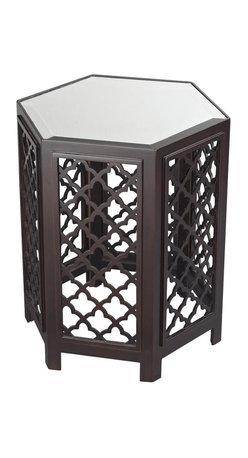 Sterling Industries - Marrakesh-Moorish Pattern Side Table With Mirrored Top - Marrakesh-Moorish Pattern Side Table With Mirrored Top