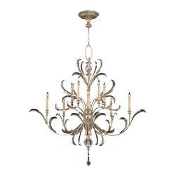 Fine Art Lamps - Fine Art Lamps 701340ST Beveled Arcs Silver Leaf 10 Light Chandelier - 10 Bulbs, Bulb Type: 60 Watt Candelabra; Weight: 62lbs