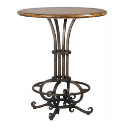 Symphony Bar Table - A melodious blend of wrought iron artistry works in concert