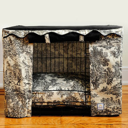 Frontgate - Toile Pet Crate Cover - Small - When I saw this exquisite toile-covered bed, I knew just the person who would love to put it in her home for her little fur baby.