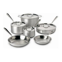 All-Clad - All-Clad Master Chef 2 - 10-Pc Cookware Set - Includes: