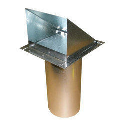 Luxury Metals - Galvanized Exterior Side Wall Cap, 8 Inch, With Damper Only - Heavy Galvanized Outside Wall Vent with Damper Flapper. 26 Gauge Sturdy