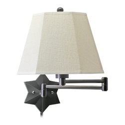 House of Troy Star Wall Swing Arm Lamp - I'd love to see a pair of these star sconces in a bedroom. They would look beautiful flanking a headboard and are utilitarian for nighttime reading.
