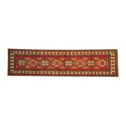 1800-Get-A-Rug - Tribal and Geometric Kazak 100% Wool Hand Knotted Area Rug Runner Sh16559 - Our Tribal & Geometric hand knotted rug collection, consists of classic rugs woven with geometric patterns based on traditional tribal motifs. You will find Kazak rugs and flat-woven Kilims with centuries-old classic Turkish, Persian, Caucasian and Armenian patterns. The collection also includes the antique, finely-woven Serapi Heriz, the Mamluk Afghan, and the traditional village Persian rug.