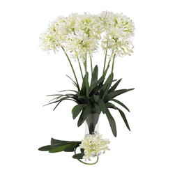 Nearly Natural - 29in. African Lily Stem (Set of 12) - Wild and carefree   that perfectly describes this stunning member of the Lily family. This African Lily is a perfect silk reproduction of one of the most interesting flowers in nature. The bottom of each individual stem sports lush leaves that cascade up and out, from which this flower's bloom literally 'pops' in a wild array of soft petals. Display several in a vase for the full effect of this wonderful specimen. Sold in a set of twelve stems.