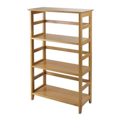 Winsome Wood - Winsome Wood Studio 3-Tier Bookshelf with Honey Finish X-24399 - Offering substantial storage space with a polished and sleek look, the bookshelf is perfect for holding extra computer supplies. Mix and match with the rest of the Studio Home Office line.