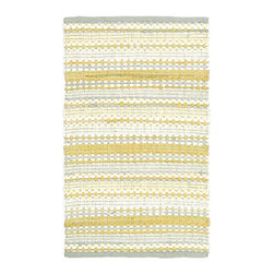 LR Resources - Contemporary Cotton Dhurry Rectangle Yellow-Gray Area Rug - The Cotton Dhurry area rug Collection offers an affordable assortment of Contemporary stylings. Cotton Dhurry features a blend of natural Yellow-Gray color. Flat Weave of Cotton the Cotton Dhurry Collection is an intriguing compliment to any decor.