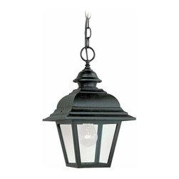 Sea Gull Lighting - 1-Light Pendant Black - 6016-12 Sea Gull Lighting Bancroft 1-Light Outdoor Pendant with a Black Finish
