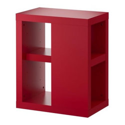IKEA of Sweden - VIKA ANNEFORS Table leg with storage - Table leg with storage, red