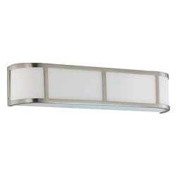 Nuvo Lighting - Nuvo Lighting 60-2873 Odeon 3-Light Wall Sconce with Satin White Glass - Nuvo Lighting 60-2873 Odeon 3-Light Wall Sconce with Satin White Glass