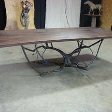 Eclectic Dining Tables by Stone and Cottonwood
