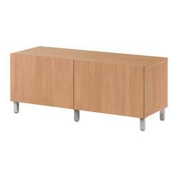 IKEA of Sweden - BESTÅ Bench with legs - Bench with legs, beech effect