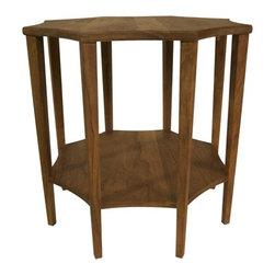 NOIR - NOIR Furniture - Ariana Side Table in Dark Walnut - GTAB335DW - Features: