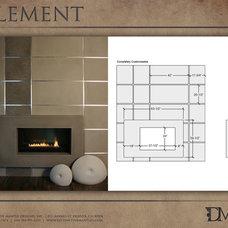 Modern Fireplaces by Distinctive Mantel Designs, Inc