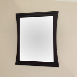 Bellaterrra - Bellaterra 604023 32 In Wood Frame Mirror - 32x37.5x1 in. - Bellaterra 604023 32 In Wood Frame Mirror - 32x37.5x1 in.