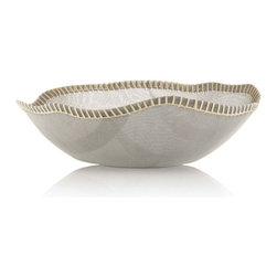 "Alessi - Peneira 15.75"" Basket by Fratelli Campana - Features: -Peneira collection. -18/10 Stainless steel mesh and natural fibre. -Dimensions: 5"" H x 15.75"" W."