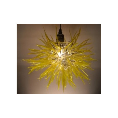 "Eco Friendly Furnture and Lighting - Captivating Modern Elegance with ""Unexpected Materials"" Title: ""Spore"" Medium: Recycled Plastic Bottles & Aluminum"
