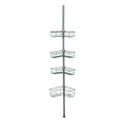 Zenith - Zenith 2130NN Tension Mount Steel Shower Pole Caddy in Satin Nickel - Zenith 2130NN Tension Mount Steel Shower Pole Caddy in Satin NickelOrganize your shower with this rust-resistant sturdy corner caddy. Included are 4 large shelves to hold shampoo, conditioner and more. It installs and adjusts easily without the need for tools.Zenith 2130NN Tension Mount Steel Shower Pole Caddy in Satin Nickel, Features:&#149 Tension mount design installs easily with no cutting or extra pieces