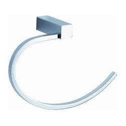 Fresca - Fresca Ottimo Towel Ring - All of our Fresca bathroom accessories are made with brass with a triple chrome finish and have been chosen to compliment our other line of products including our vanities, faucets, shower panels and toilets. They are imported and selected for their modern, cutting edge designs.