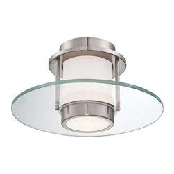 George Kovacs Modern Nickel 7-Inch-H Ceiling Light -