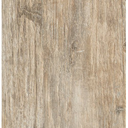 """Echo - Gardena - A technical porcelain tile inspired from the aged woods found in historic spas in the Dolomite Mountains in Italy. Available in 6"""" x 40"""" and 10"""" x 40"""" plank."""