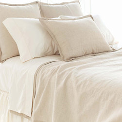 Pine Cone Hill - zen coverlet - Find inner peace with the naturally neutral zen coverlet, shams and bed skirt made from a texture-rich linen/cotton blend. ��This item comes in��beige.��This item size is��various sizes.