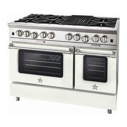 "BlueStar Platinum Series: 48"" Range - 48"" BlueStar Platinum Range in Pure White (RAL 9010)"