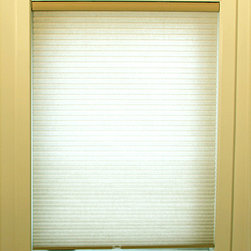 None - Whisper Almond Cordless Cellular Window Shade - These Cordless Cellular window shades are energy efficient, helping to insulate your home. These cordless shades open and close with the gentle pull and push of your hand.