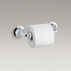 KOHLER - KOHLER Fort�(R) traditional toilet tissue holder - This Fort� Traditional toilet tissue holder reflects the smooth, classic styling of Fort� faucets, adding a timeless look to your bath or powder room.