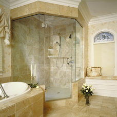 Modern Shower Doors by Delta Glass