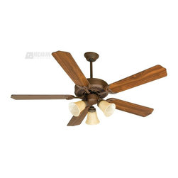 """Craftmade - Craftmade 52"""" CD Unipack 206 Traditional Ceiling Fan X-IR602UDC - The CD Unipack 206 features Tea-Stained glass for a simple, refined style."""