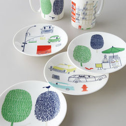 "kate spade new york - kate spade new york ""City"" Mug - Mugs and dessert plates add whimsically urban attitude to table settings. From kate spade new york. Made of porcelain. Dishwasher and microwave safe. Mugs sold individually; each holds 12 ounces. Dessert plates sold as set of four assorted designs;..."