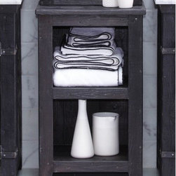 Americana Cubby in Anvil - Character is a thing of the past. Handcrafted by American artisans from reclaimed wood, Americana Cubby has a character as rich as its history. Its beautifully textured wood, rescued from American structures of the past: old barns, homesteads, and fencing, has stood the test of time. This heirloom cubby features open shelving, ideal for storing linens in the bathroom; in other areas of the home they can be used for displaying photos, books or other items.