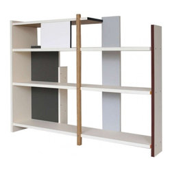 "EcoFirstArt - Shelf R511 by Sven Temper - German artist Sven Temper created this bookcase based on the De Stijl movement, which is Dutch for ""The Style."" This shelf stays true to the essentials of simple form and color without sacrificing functionality."