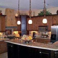 Mediterranean Kitchen by Carol Mickey Designs, Inc.