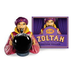 """Outliving - Zoltan Magic 8 Ball - The Zoltan Magic 8 Ball is inspired by the classic 80's movie Big starring Tom Hanks! This fun fortune teller will bring you back to your childhood days by answering your deepest questions about the future! Just ask it anything you'd like to know, take the 8 ball out of Zoltan's hands and give it a shake, to reveal the truth. The Zoltan Magic 8 Ball makes a great decoration for your desk…""""Oh Great Zoltan, Will I get a promotion?"""""""